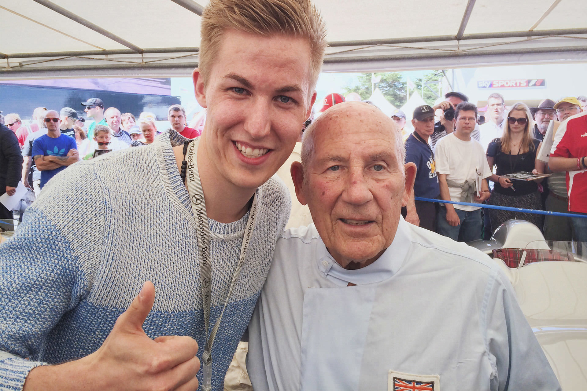 Selfie - Sir Stirling Moss - Goodwood